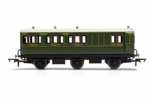 Hornby OO R40087 SR, 6 Wheel Coach, Brake 3rd Class, 3750 - Era 3