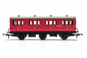 Hornby OO R40123 BR, 6 Wheel Coach, 1st Class, Fitted Lights, E41373 - Era 4