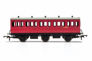 Hornby OO R40124 BR, 6 Wheel Coach, 3rd Class, Fitted Lights, E31070 - Era 4
