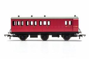 Hornby OO R40126 BR, 6 Wheel Coach, Brake 3rd Class, Fitted Lights, E31185 - Era 4