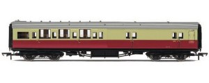 Hornby OO R4349B Maunsell Four Compartment Brake Third Corridor S3731S BR Crimson & Cream