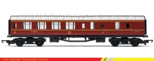 Hornby RailRoad OO R4389 Stanier Period III Third Brake Corridor LMS Crimson Lake