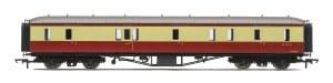 Hornby OO R4404B Hawksworth 63' Passenger Brake W829W BR Crimson & Cream