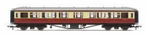 Hornby OO R4407B Hawksworth 63' Composite Corridor W7803W BR Crimson & Cream