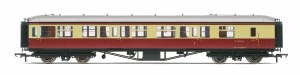 Hornby OO R4408B Hawksworth 63' Brake Composite W7858W BR Crimson & Cream