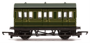 Hornby RailRoad OO R4672 Four Wheeled Coach SR Lined Maunsell Olive Green