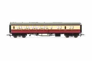 Hornby OO R4686A Collett 'Bow Ended' Brake Third Corridor Left Hand W4926W BR Crimson & Cream