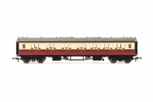 Hornby OO R4688A Collett 'Bow Ended' Composite Corridor Right Hand W6145W BR Crimson & Cream