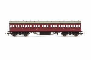 Hornby OO R4689A Stanier 57' Period III Composite Non-Corridor M16587M BR Maroon