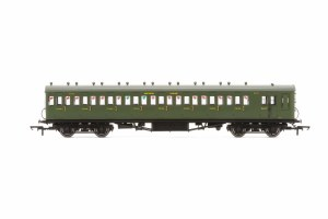 Hornby OO R4717A Maunsell 58' Rebuilt (Ex-LSWR 48') Eight Compartment Brake Third 2636 SR Maunsell Olive Green