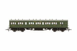 Hornby OO R4718A Maunsell 58' Rebuilt (Ex-LSWR 48') Six Compartment Brake Third 2625 SR Maunsell Olive Green