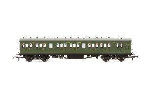 Hornby OO R4719A Maunsell 58' Rebuilt (Ex-LSWR 48') Six Compartment Brake Composite 6401 SR Maunsell Olive Green