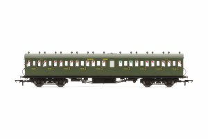 Hornby OO R4720A Maunsell 58' Rebuilt (Ex-LSWR 48') Nine Compartment Third 364 SR Maunsell Olive Green