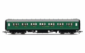 Hornby OO R4734 Maunsell First Class Corridor (High Windows) 7406 SR Malachite Green