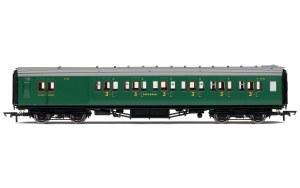 Hornby OO R4737 Maunsell Brake Third Class Corridor (High Windows) 3798 SR Malachite Green