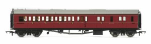 Hornby OO R4764 Collett 'Bow Ended' Brake Third Corridor Right Hand W4935W BR Maroon
