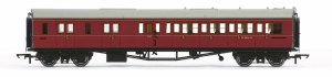 Hornby OO R4765 Collett 'Bow Ended' Brake Third Corridor Left Hand W4936W BR Maroon
