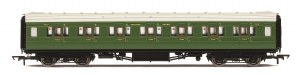Hornby OO R4770 Maunsell First Class Corridor (High Windows) 7412 SR Maunsell Olive Green