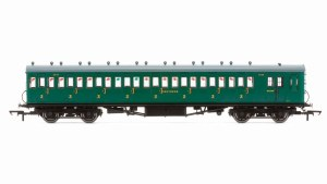Hornby OO R4792 Maunsell 58' Rebuilt (Ex-LSWR 48') Eight Compartment Brake Third 2638 SR Malachite Green