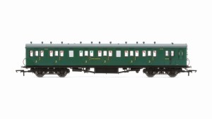 Hornby OO R4793 Maunsell 58' Rebuilt (Ex-LSWR 48') Six Compartment Brake Third 2628 SR Malachite Green
