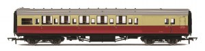 Hornby OO R4796A Maunsell Brake Third Class Corridor (High Windows) S3794S BR Crimson & Cream