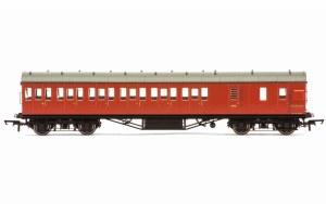 Hornby OO R4801 Stanier 57' Period III Brake Third Non-Corridor M20736M BR Crimson
