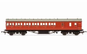 Hornby OO R4801A Stanier 57' Period III Brake Third Non-Corridor M20737M BR Crimson