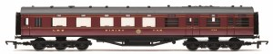 Hornby OO R4802 Stanier 68' Period II Dining / Restaurant Car 238 LMS Crimson Lake