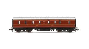 Hornby OO R4843 Stanier 50' Period III Full Brake 31010 LMS Crimson Lake