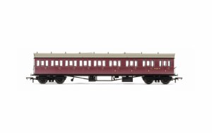 Hornby OO R4879 Collett 'Bow Ended' E131 Nine Compartment Composite Right Hand W6631W BR Crimson