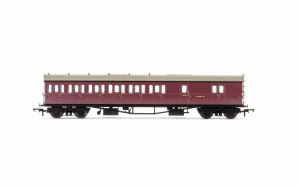 Hornby OO R4880 Collett 'Bow Ended' D98 Six Compartment Brake Third Left Hand W5507W BR Crimson