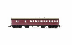 Hornby OO R4881 Collett 'Bow Ended' D98 Six Compartment Brake Third Right Hand W5508W BR Crimson