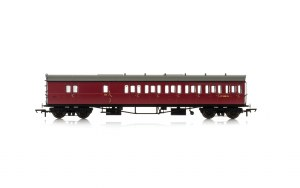 Hornby OO R4881A Collett 'Bow Ended' D98 Six Compartment Brake Third Right Hand W4951W BR Crimson