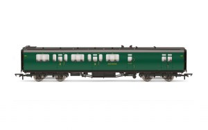 Hornby OO R4884B Bulleid 59' Brake Third Corridor 2861 SR Malachite Green