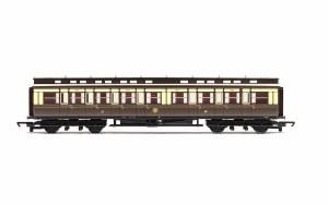 Hornby OO R4899 C15 'Clerestory' Composite Corridor 3229 GWR Chocolate & Cream