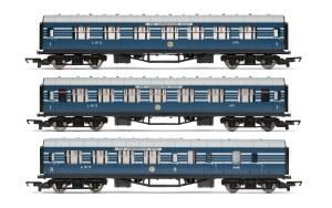 Hornby RailRoad OO R4906 LMS 'Coronation Scot' Coach Pack 2 x First Class 1 x Brake Third