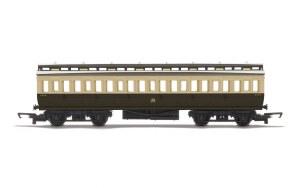 Hornby RailRoad OO R4913 Clerestory Third Coach GWR Chocolate & Cream (Shirtbutton)