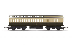 Hornby RailRoad OO R4914 Clerestory Brake Coach GWR Chocolate & Cream (Shirtbutton)