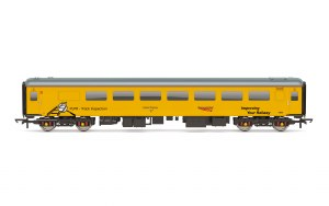 Hornby OO R4928 Mk2F Plain Line Pattern Recognition Vehicle 72631 Network Rail Yellow