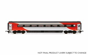 Hornby OO R4930 Mk3 TSD Trailer Standard Disabled (HST) 42091 LNER (2018+) Red & Silver