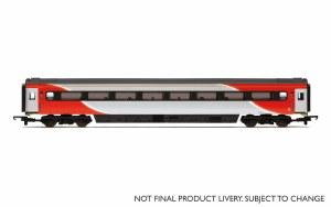 Hornby OO R4931A Mk3 TS Trailer Standard (Open) (HST) 42146 LNER (2018+) Red & Silver