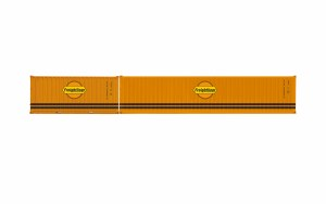Hornby OO R60001 Freightliner, Container Pack, 1 x 40' and 1 x 20' Containers - Era 11