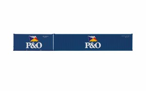 Hornby OO R60041 P&O, Container Pack, 1 x 20' and 1 x 40' Containers - Era 11