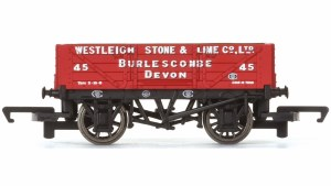 Hornby OO R6743 4 Plank Wagon Westleigh Stone and Lime Co. Ltd
