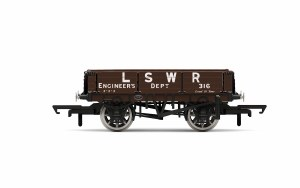 Hornby OO R6944 LSWR, 3 Plank Wagon, LSWR Engineers 316 - Era 2