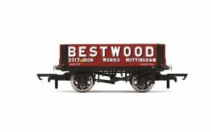 Hornby OO R6946 Bestwood, 4 Plank Wagon, No. 2017 - Era 2/3