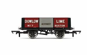 Hornby OO R6947 Dowlow Lime, 5 Plank Wagon, No. 7 - Era 2/3