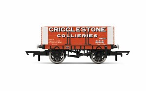 Hornby OO R6949 Crigglestone Collieries, 6 Plank Wagon, No. 222 - Era 2/3