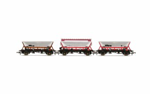 Hornby OO R6963 National Wagon Preservation Group, Hopper wagons, three pack - Era 11