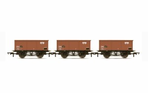 Hornby OO R6965 BR, 27T MSV Iron Ore Tipplers, three pack - Era 7